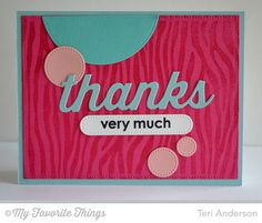 Blueprints 21 Die-namics, Thankful Thoughts, Zebra Background, Many Thanks Die-namics - Teri Anderson #mftstamps
