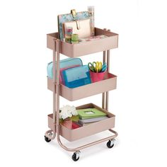 Buy the Rose Gold Lexington 3-Tier Rolling Cart By Recollections™ at Michaels.com. Store your makeup essentials and keep them organized on this 3-tier cart by Recollections.