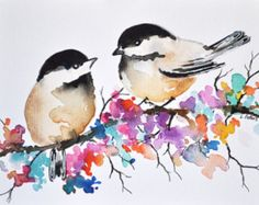 29 new Ideas for painting bird watercolor water colors Watercolor Drawing, Watercolor Bird, Painting & Drawing, Watercolour Paintings, Painting Tattoo, Watercolor Portraits, Watercolor Landscape, Simple Watercolor, Bird Paintings