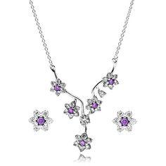 Pandora Silver Forget Me Not Stud Jewellery Set CS013