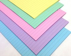 PASTEL Planner Paper fits Filofax Pocket, Personal or A5 size Planners