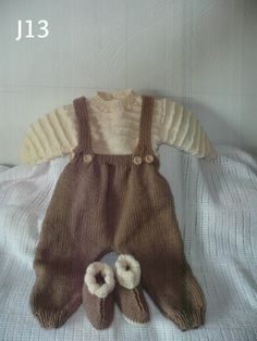 Dungarees Sweater and Boots by KnitsbyJustJenny on Etsy
