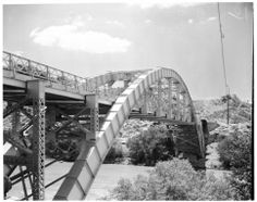 1952 Bridge over Mojave River leading into Victorville from Apple Valley and Big Bear Lake via State Highway 18.