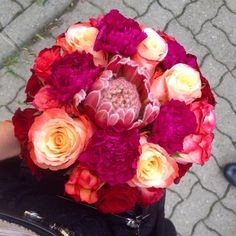 My perfect Godmother bouquet! ❤️❤️❤️