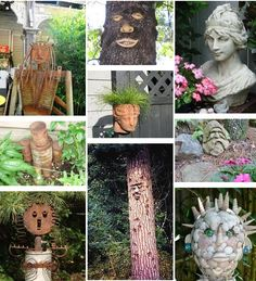 Faces in the garden - come pick your favourites!