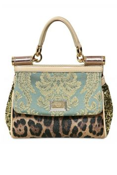 Leopard, lace, sequins, brocade and so on... D&G Miss Sicily Top Handle Bag for 2012... LOVE