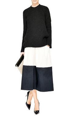 Crepe-Back Cotton-Blend Sweater by Rochas