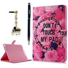 iPad Air 2 Case YOKIRIN Flip Folio Pretty Rose with Card Slots Magnetic Closure Stand Smart Cover Full Body Protective Synthetic PU Leather Cover Skin for iPad Air 2  iPad 6th Generation *** Continue to the product at the image link.