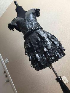 Recycle Project. Proyecto de Reciclaje. ♻ Trash Bag Dress. Vestido con Bolsas de Basura. #TrashBagDressAndSpoons. #BagsDress