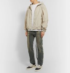 Fear Of God Cotton-canvas Drawstring Trousers In Green
