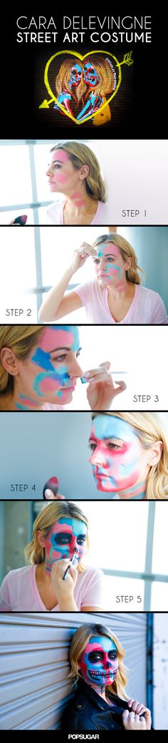 Try This Cara Delevingne Street-Art-Inspired Halloween Makeup