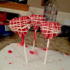 <3 Valentine Cake Pops
