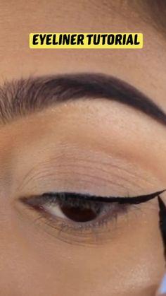 Love My Makeup, Makeup Eye Looks, Eye Makeup Steps, Eye Makeup Art, Eyebrow Makeup, Skin Makeup, Eyeshadow Makeup, Makeup Tips, Hooded Eye Makeup Tutorial
