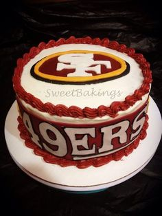 49ers Cake - Perhaps this years birthday cake for me? Hint hint....