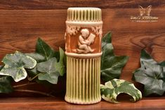 Roseville Pottery 1915-31 Donatello Cylinder Vase #118-6 - The Kings Fortune