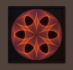 Wall Art Zen Large String Art Mandala in Brown & por FeniksArtDeco