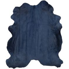 Navy Blue Cow Hide Rug ($1,200) ❤ liked on Polyvore featuring home, rugs, navy rug, cowhide rug, navy area rug, cowskin rug and cow skin rug
