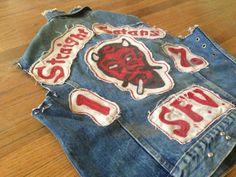 Vintage Motorcycle Club Denim Vest.