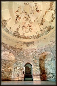 Roman mausoleum of Centcelles. dated to the 4th century. Constanti, in Catalonia Spain