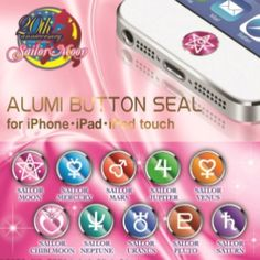 Sailor moon alumi button seal - basically a bubble sticker for your I pod for like 1$