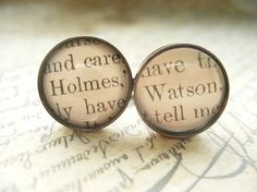 No need for your book-loving guy friends to be left out of the literary accessory fun. Rustle them up some bookish cuff links like these, featuring text from Sherlock Holmes, from JonTurner on Etsy.
