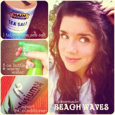 Beach waves hair tutorial with homemade hairspray :):)