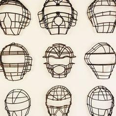 Vintage Baseball Catchers Masks.