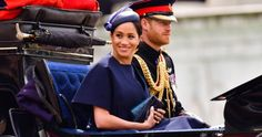 Prince Harry and Meghan Markle attend Trooping the Colour Princess Meghan, Prince Harry And Meghan, Princess Diana, Trooping The Colour, Meghan Markle News, Royal Family News, First Wedding Anniversary, Royal Look, Expensive Clothes