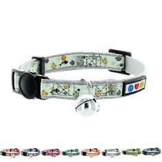 Pawtitas Pet Glow In The Dark Cat Collar with Safety Buckle and Bell *** Click image for more details. #Dogs