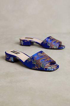 Shelly's London Brocade Slide Sandals