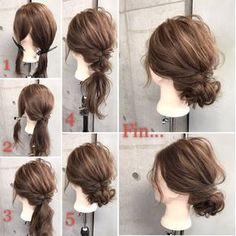 HAIR (hair) is a hairstyle that stylist models send … – From Parts Unknown Work Hairstyles, Wedding Hairstyles, Hair Arrange, Hair Designs, Prom Hair, Bridal Hair, Hair Inspiration, Short Hair Styles, Hair Makeup