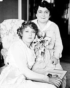 Mary Pickford and her mother, 1917.