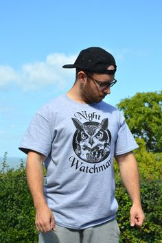 Owl Night Watchman T Shirt By Ben Prints, Ships Worldwide, Click For More Pics