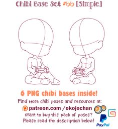 Chibi Pose Reference (Simple Chibi Base Set by Nukababe on DeviantArt Body Drawing, Drawing Base, Drawing Stuff, Manga Drawing, Chibi Girl Drawings, Cartoon Drawings, Anime Poses Reference, Drawing Reference, Chibi Body