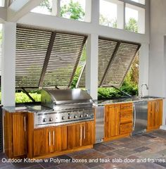 """Obtain wonderful tips on """"outdoor kitchen designs layout patio"""". They are on cal… Obtain wonderful tips on """"outdoor kitchen designs layout patio"""". They are on call for you on our site. Indoor Outdoor Kitchen, Outdoor Kitchen Design, Outdoor Cooking, Outdoor Rooms, Patio Design, Outdoor Living, Outdoor Decor, Outdoor Kitchens, Bahama Shutters"""