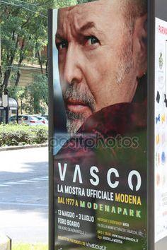 Vasco Rossi, Inauguration of the photographic exhibition on the life of Vasco Rossi — Foto Editoriale Stock © frizio #154036742