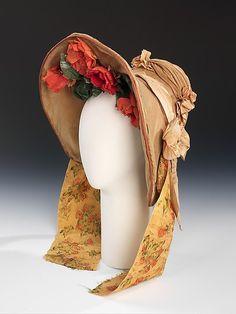 Wedding Bonnet  Date:1837    Culture:American    Medium:cotton, silk