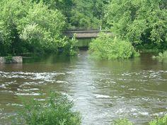 The river in Necedah Wisconsin