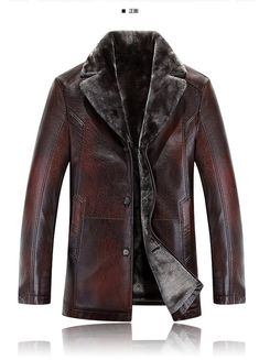 Mens Napa Real Leather Jacket Winter Fashion Coat A846