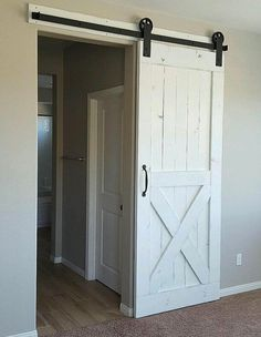 White Rustic Barn Door via Etsy | Farmhouse Finds for the Fixer Upper Look