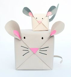 Envolver paquetes con forma de animalitos