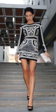 Holiday beaded sequin dress at bebe