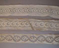 Antique Lace Trim 3 styles Edwardian Drawn by dandelionvintage