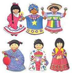 Multicultural Children and Glass Ball Ornaments