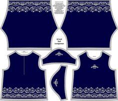 Beautiful Dreamer 18 inch Doll Loungewear fabric by kdl on Spoonflower - custom fabric