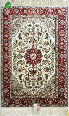 2x3ft-(61x91cm)-500L,Persian hand made silk carpets of china