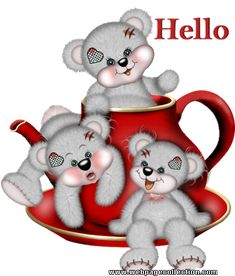Hi And Hello 8 Photo - Hi And Hello Animated Gifs, Pictures, Photos Tatty Teddy, Glitter Gif, Glitter Text, Gif Animé, Animated Gif, Animation, Hello Quotes, Cute Teddy Bears, Glitter Graphics