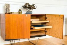Ms Kingston is part of the classic 1950s Publiki furniture family. This rare stylish teak sideboard designed by John & Sylvia Reid for Stag. An iconic mid-century piece and highly collectible. #interiordesign #homedecor #furniture #interiors #midcentury