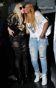Two ladies that I adore because they are just crazy! Lady Gaga and Tamar Braxton Two Ladies, Tamar Braxton, Fitness Gifts, Girls Night, Ladies Night, Celebs, Celebrities, Lady Gaga, Black Girls