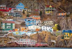 #battery #colorful houses #newfoundland #